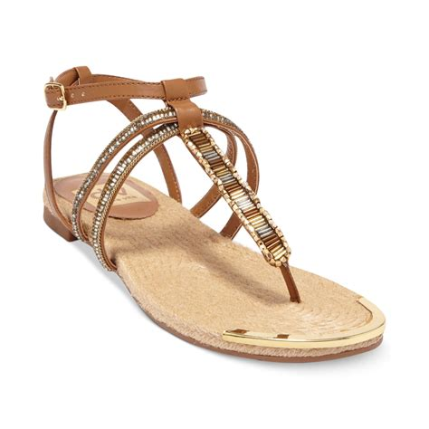 cognac flat sandals dolce vita dv by dalten flat sandals in brown