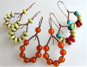 Jewelry Making Tutorials Earrings - a lovely wire wrapped and coiled wire earrings tutorial the beading gem s journal