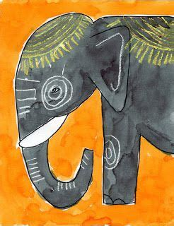 watercolor elephant tutorial for kids crayons and tutorials on pinterest