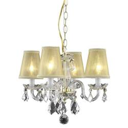 Crystals To Hang On Chandeliers Somette 4 Light Gold Hanging Chandelier With Crystals And