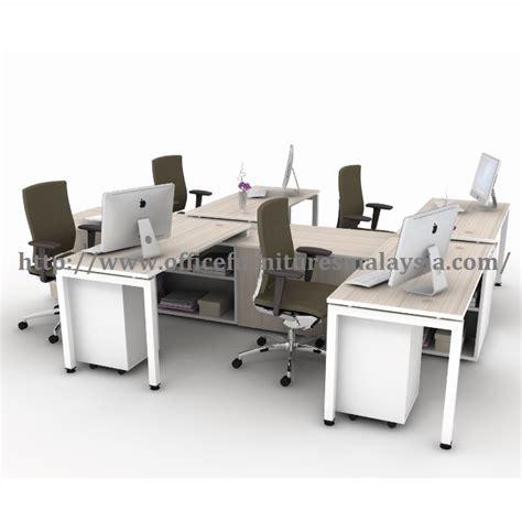 Meja Workstation 5ft administrative workstation 4 table set workstation pentadbiran