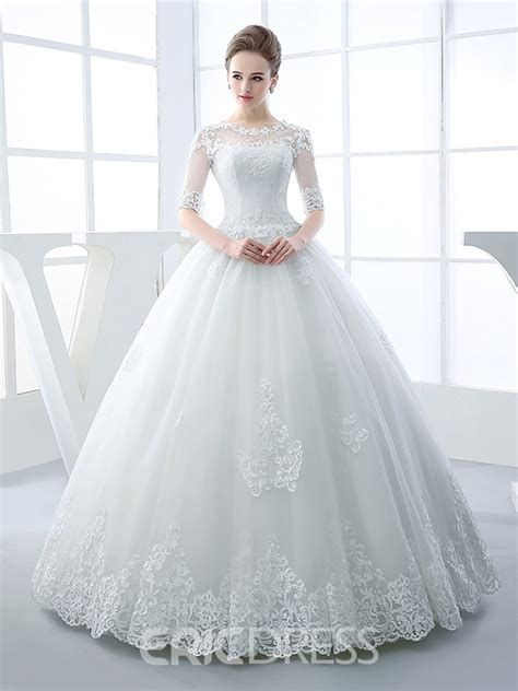 Beautiful Wedding Gowns by Ericdress Beautiful Illusion Neckline Gown Princess