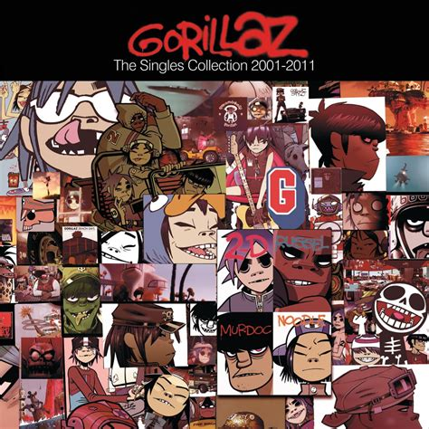 The Single gorillaz the singles collection 2001 2011 album covers