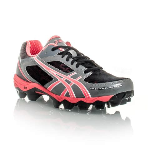 touch football shoes asics gel lethal touch pro 5 womens turf shoes black