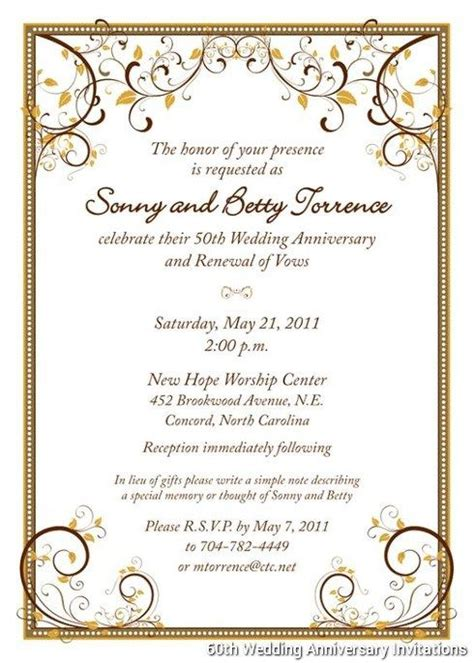 60th anniversary invitations templates 60th wedding anniversary invitations templates boda 50th