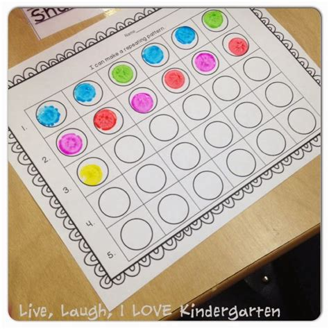 kindergarten pattern making making patterns with dotters free printable best of