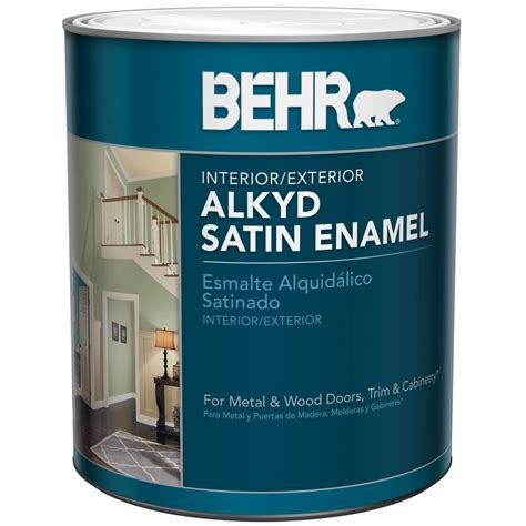 Interior Based Paint by Behr 1 Qt Base Alkyd Satin Enamel Interior Exterior