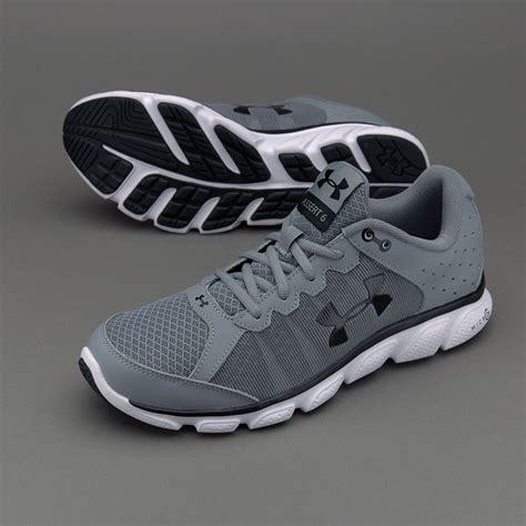Sepatu Merk Armour sepatu lari armour micro g assert 6 steel white black