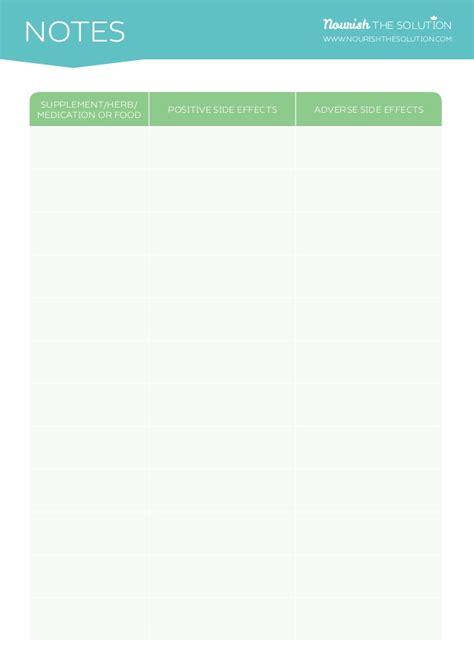 supplement schedule daily supplement schedule