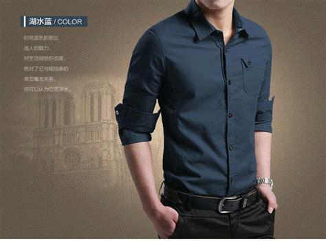 Kemeja Baju Pria Cowok Slimfit Keren 12179 baju kemeja pria polos lengan panjang keren model slim fit terbaru