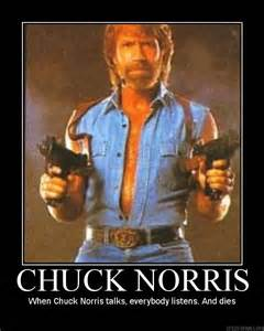 chuck norris puts the quot laughter quot in quot manslaughter quot