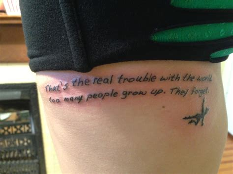 disney quote tattoos my new disney walt disney quote with pan