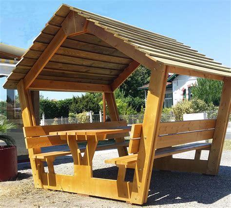 Table De Pique Nique Bois 7891 by Table De Pique Nique Couverte En Bois Robert L 233 Glise 33