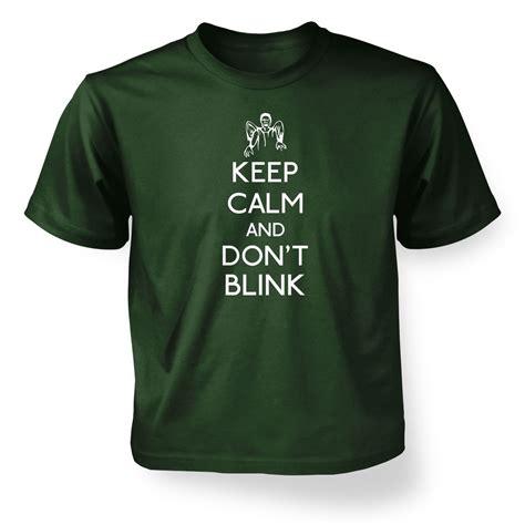 Kaos Keep Calm Minecraft Tshirt T Shirt T Shirt keep calm and don t blink t shirt somethinggeeky