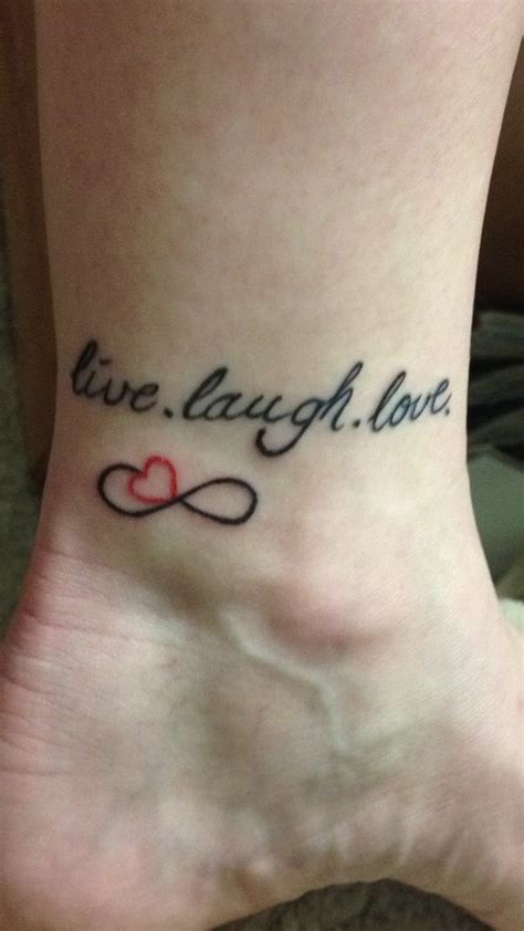 live laugh love tattoo girlie tattoos pinterest