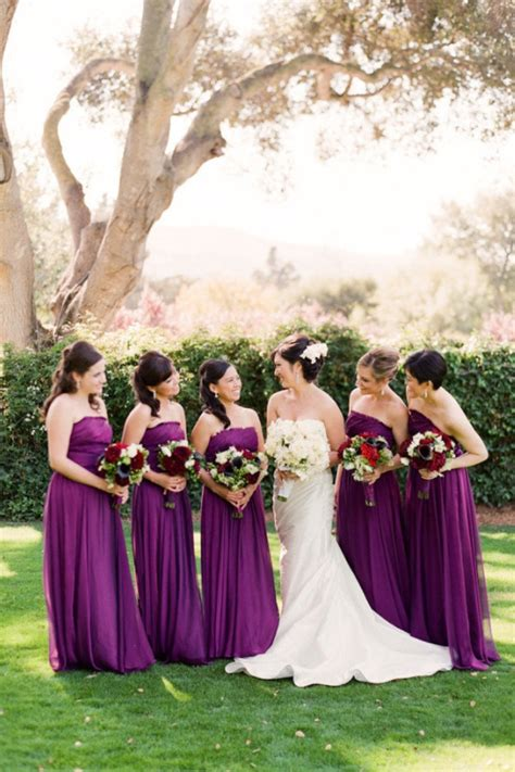 berry tone bridesmaid dresses southbound bride