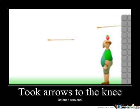 Arrow To The Knee Meme - arrow to the knee by laserflash meme center