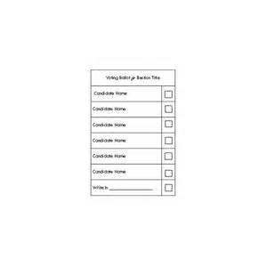 ballot paper template a free election ballot template