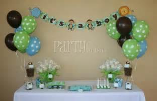 safari baby shower table decor photograph partylicious an