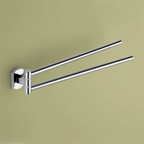 Modern Bathroom Towel Bars Chrome Swivel Towel Bar By Gedy Modern Towel Bars And Hooks Other Metro By Thebathoutlet