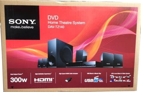 sony dav tz140 home theater system 5 1 channel 300w dvd