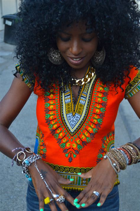 African Bohemian Style | style pantry 70s dashiki 70s high waist bell bottom jeans