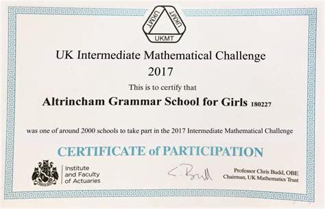 ukmt senior maths challenge ukmt intermediate mathematical challenge 2017 altrincham