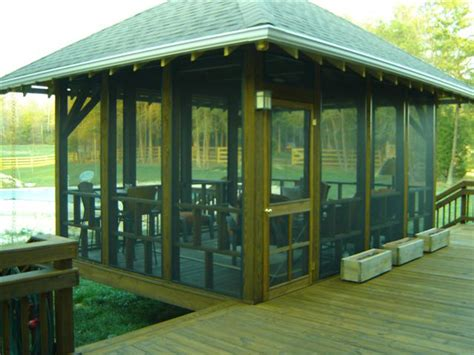 screen room plans this freestanding screened porch in greensboro nc was the