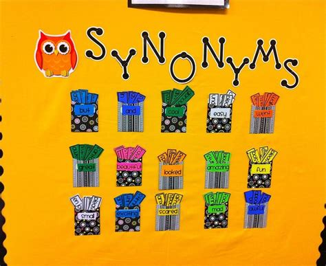 Synonyms For Decoration 25 best ideas about grammar bulletin boards on