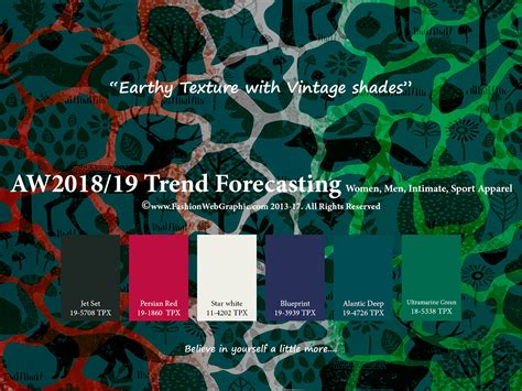 autumn winter 2017 2018 trend forecasting is a trend color aw2018 2019 trend forecasting on pantone canvas gallery