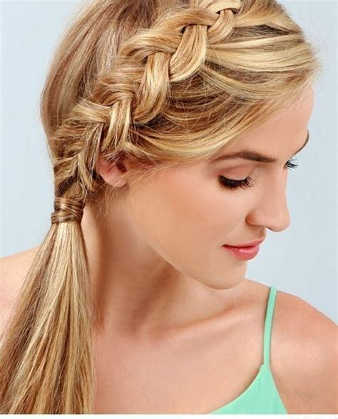 ponytail hairstyles braids side 18 cute braided ponytail styles popular haircuts