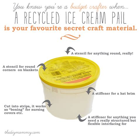 Recycled Home Decor Projects by Use A Recycled Ice Cream Pail As A Craft Material The