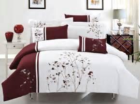 Maroon Duvet Cover New Stunning Burgundy Flowers Luxury Duvet Cover 7pcs Set