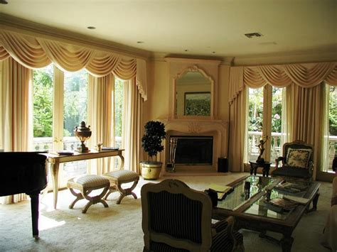 livingroom valances interior curtain with valance and white overblind