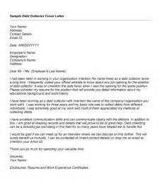 debt collector cover letter