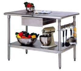 stainless steel kitchen work table island cucina forte farm style distressed