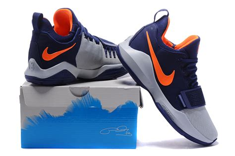 Nike Zoom 1 Orange 2017 nike zoom pg 1 navy blue wolf grey orange for sale cheap jordans 2017
