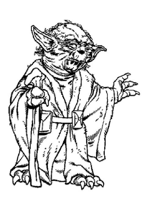 free star wars yoda coloring pages