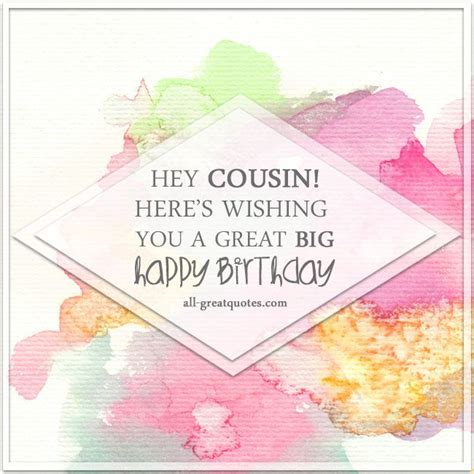 Birthday Cousin Quotes The 25 Best Cousin Birthday Quotes Ideas On Pinterest