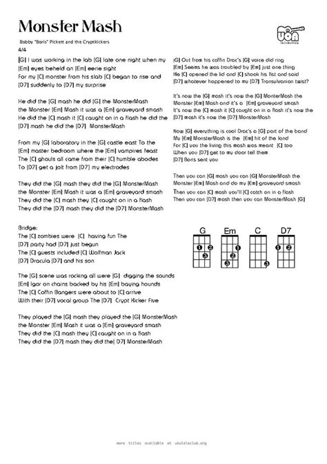 printable lyrics monster mash 15 best ideas about monster mash on pinterest monster