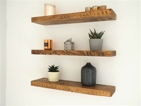 rustic wood floating shelves rustic floating shelves chunky wood shelf mantel timber pine ebay