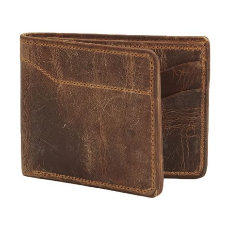 bi fold wallet vintage brown duvall leatherwork