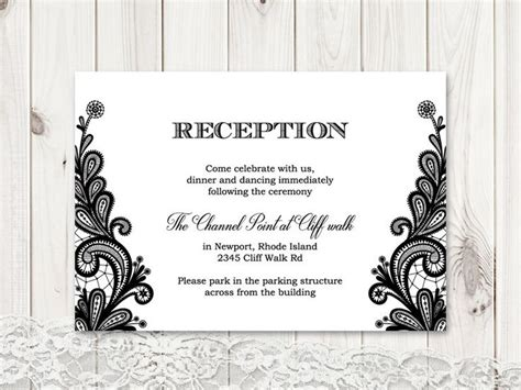 Diy Reception Card Template by 42 Best Wedding Invitation Templates Quot Vintage Lace Quot Images