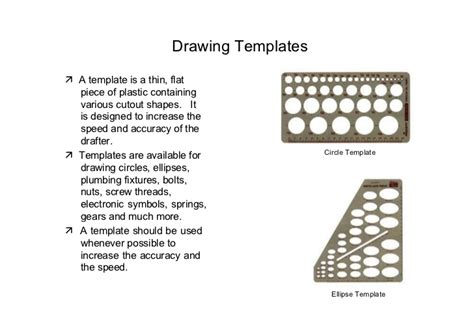 engineering drawing template engineering drawing drafting instruments lesson 2