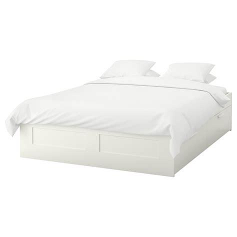 brimnes cadre lit avec rangement blanc 160 x 200 cm ikea