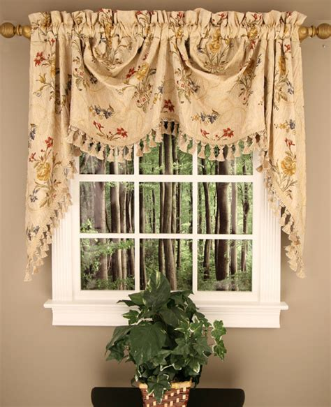 traditional curtains and valances jewel austrian valance with tassel fringe traditional