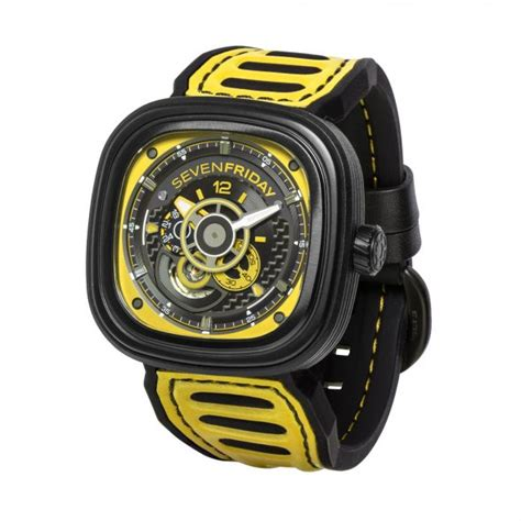 Seven Friday Sf M2 Yellow Black Leather Automatic seven friday p3b racing team models insider
