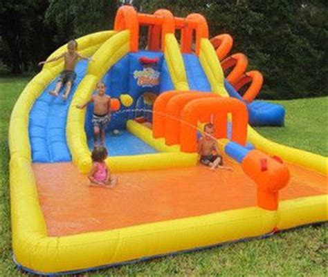 summer blast water park inflatable water