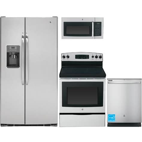 ge stainless steel kitchen appliance package ge gss25csh stainless steel complete kitchen package