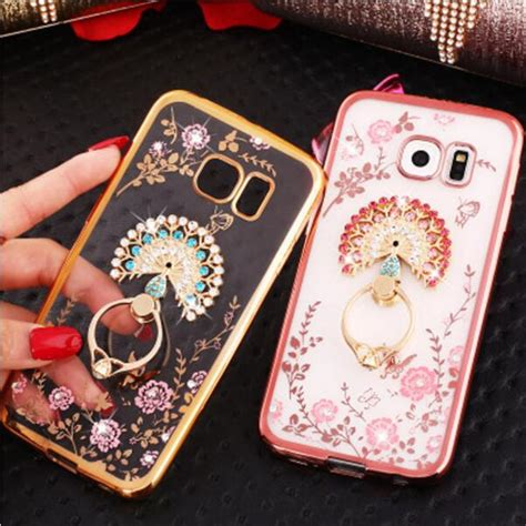 Casing Samsung Note 5 Terbaru Plus I Ring luxury secret garden flowers rhinestone phone for samsung galaxy s8 plus s7 s6 edge